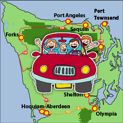 Map Of Olympic Peninsula